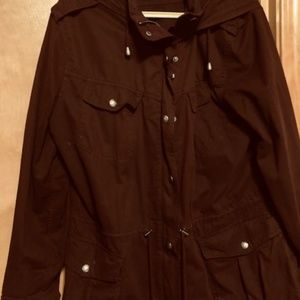 Burgundy Hooded Jacket